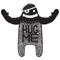A huggable yeti designed for Mark at Haus of Gmone, a talented designer who specialises in screen printing and sells a great range of homeware and printed apparel on his website. Click the image to see what he has to offer!